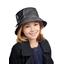 Chapeau pluie ajustable T2  anthracite argent