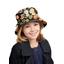 Chapeau pluie ajustable T2  bulles dorées