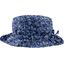 Chapeau pluie ajustable T2  fleurs bleue nuit - PPMC