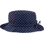 Rain hat adjustable-size 2  navy blue spots
