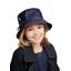 sombrero de lluvia ajustable T2  lunares azul marino