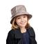 Chapeau pluie ajustable T2  taupe argent
