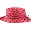 sombrero de lluvia ajustable T2  cuadros vichy rojo y mariquitas - PPMC