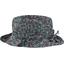 Chapeau pluie ajustable T3 milli fleurs vert azur - PPMC