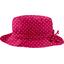Chapeau pluie ajustable T3 pois fuchsia - PPMC