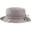 Chapeau pluie ajustable T3 pois gris clair