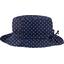 Chapeau pluie ajustable T3 pois marine - PPMC