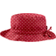 Chapeau pluie ajustable T3 pois rouge - PPMC