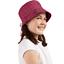 Chapeau de soleil ajustable T1 à T2 fuchsia argent