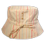Sun hat adjustable-size T2 silver pink striped