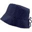 Chapeau de soleil ajustable T3 pois marine - PPMC
