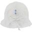 Chapeau soleil charlotte ajustable  blanc pailleté - PPMC
