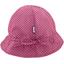 Chapeau soleil charlotte ajustable etoile or fuchsia