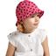 Chapeau soleil charlotte ajustable vichy coccinelle