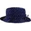Chapeau pluie ajustable T2  etoile or marine  - PPMC
