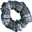 Small scrunchie green and white tartan - PPMC