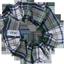 Chouchou mini ecossais vert et blanc - PPMC