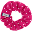 Small scrunchie fuschia spots