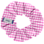 Small scrunchie fuschia gingham - PPMC