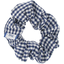 Small scrunchie navy blue gingham