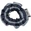 Mini Chouchou rayé argent marine - PPMC