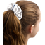 Scrunchie white sequined