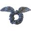Chouchou nœud  etoile argent jean - PPMC