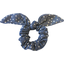 Bunny ear Scrunchie etoile argent jean - PPMC