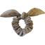 Bunny ear Scrunchie gold linen - PPMC