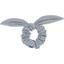 Chouchou nœud   pois argent gris - PPMC