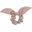 Chouchou nœud  rayures cuivrées - PPMC