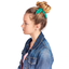 Bunny ear Scrunchie green laurel