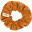 Small scrunchie caramel golden straw