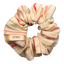 Small scrunchie silver pink striped - PPMC