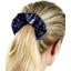 Scrunchie navy blue spots