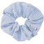 Scrunchie sky blue gingham - PPMC