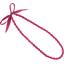 Collier sautoir perles etoile or fuchsia - PPMC
