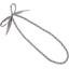 Collier sautoir perles etoile or gris - PPMC