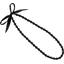 Collier sautoir perles noir - PPMC
