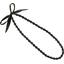 Collier sautoir perles noir pailleté - PPMC
