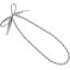 Collier sautoir perles pois gris clair - PPMC