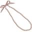 Collier sautoir perles rayures cuivrées - PPMC