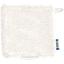 Carré Démaquillant Lavable  blanc pailleté - PPMC