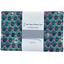 1 m fabric coupon fuchsia green geometrical flowers ex1072 - PPMC