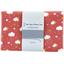 Coupon tissu 1 m nuages rouge ex1083 - PPMC