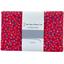1 m fabric coupon pompons cerise - PPMC