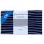 Coupon tissu 1 m rayé argent marine - PPMC