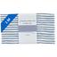 Coupon tissu 1 m rayé bleu blanc - PPMC