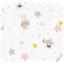 1 m fabric coupon souris rêveuses