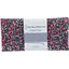 Coupon tissu 50 cm camelias rubis - PPMC